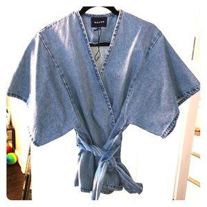 Denim Kimono Wrap Top from ASOS